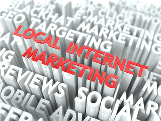 Local Internet Marketing Concept.