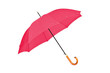 Open red umbrella on a white background