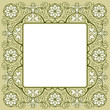 Vintage floral rich decorated square frame