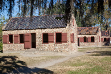 Old slave cabin from South Carolina, USA