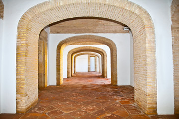 Passage inside of  Alcazar in Cordoba,  Andalusia. Spain .