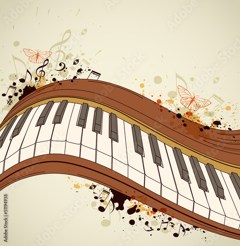 Piano and notes