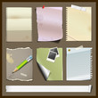 Paper collections design background, Vector