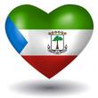 Herz mit Schatten - Äquatorialguinea