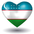 Herz mit Schatten - Usbekistan