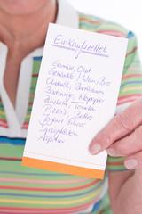 Einkaufsliste für Vergessliche