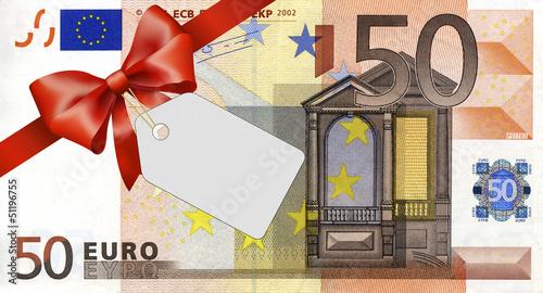gamesageddon - 50 euroschein mit rotem band und schleife mit label, Einladungen