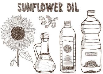 Sunflower oils doodle