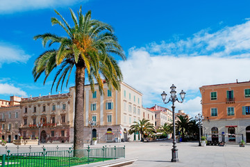 Piazza d'Italia and palm