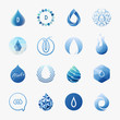 Drops. Vector logo templates set. Design elements