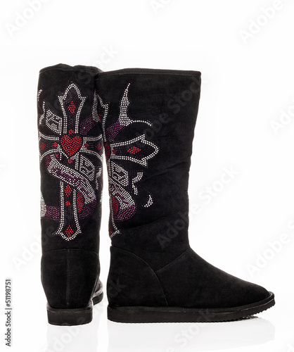 Female black boots