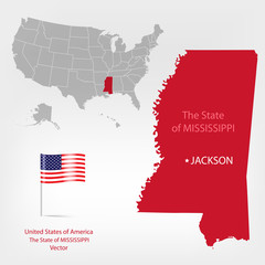 AmericanMap Mississippi state