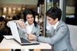 Businesswomen at a meeting