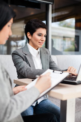 businesswomen on meeting