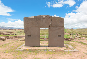 Gate of the Sun, Tiwanaku ruins, Bolivia