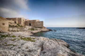 Ancient Tonnara, Siracusa in Sicily. HDR.