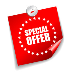 Vector special offer leaflet