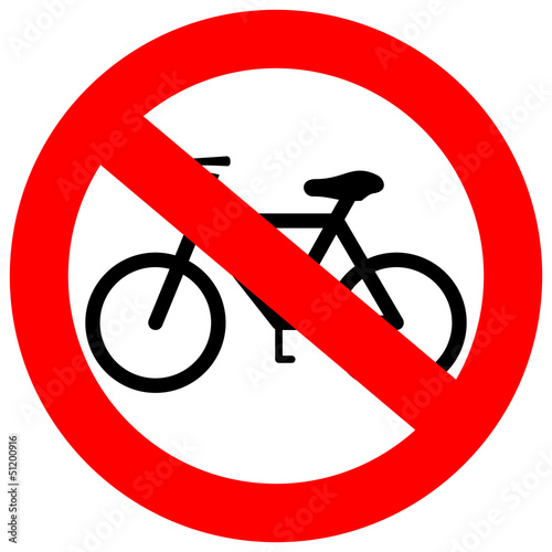 Vector no bicycle sign