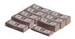 stacks of dollar banknotes