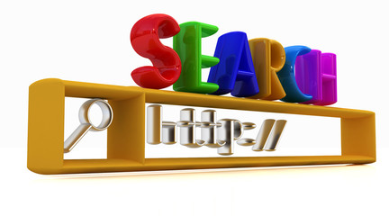 3d internet search string.Business and technology