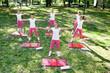 Aerobics class, outdoor