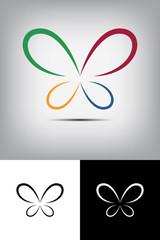Renkli kelebek logo