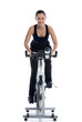 Woman doing spinning bike