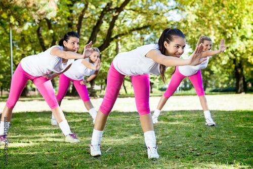 Women on fitness class