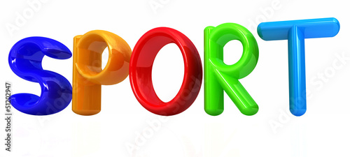 "3d colorful text ""sport"""