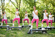 Group of women doing exercises