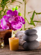 Spa still life with aromatic candle