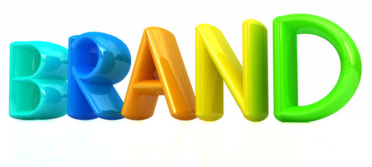 """brand"" 3d colorful text"