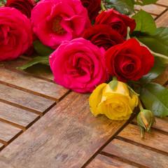 pile of fresh garden roses