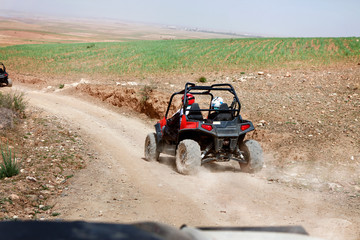 Quadbike in the desert