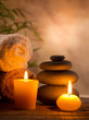 canvas print picture - Spa still life with aromatic candles