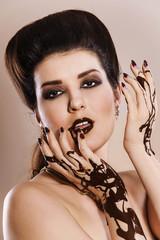 Chokolate woman