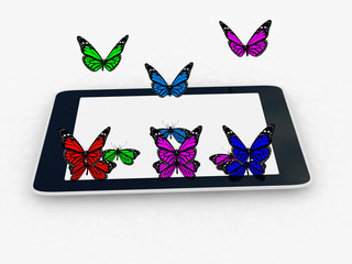butterflies on a phone