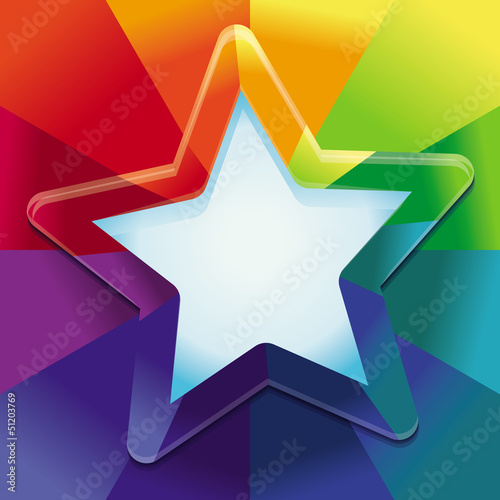 Vector abstract background in rainbow colours