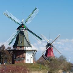 Zwillingswindmühlen in Greetsiel