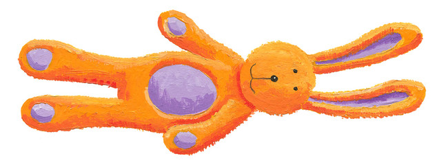 Cute orange bunny toy