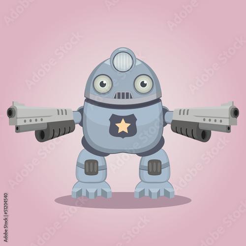 Papiers peints Robots Police robot