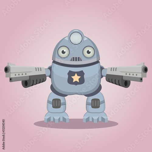 Tuinposter Robots Police robot