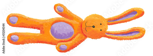 Cute orange bunny toy