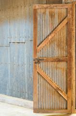 Corrugated Zinc Sheet wall and door