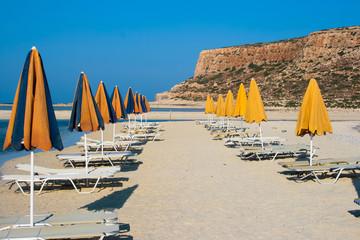 Empty beach in Balos Lagoon (Gramvousa) on Crete
