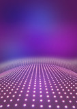Light path to infinity on a pink background.