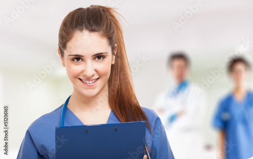 Young smiling nurse
