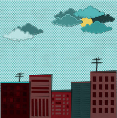 City and rain