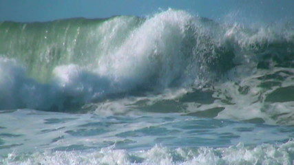 Ocean big wave slow motion