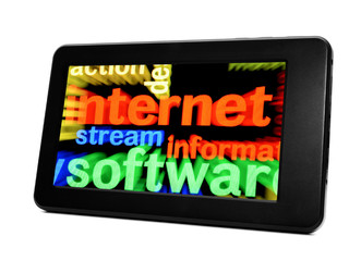 Internet concept on Pc tablet